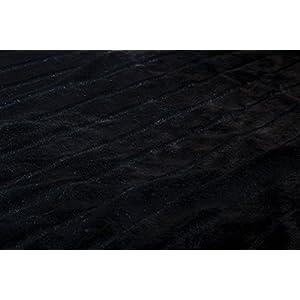 North End Decor Faux Fur, Black Striped Mink Throw Blankets, 50×60 Large