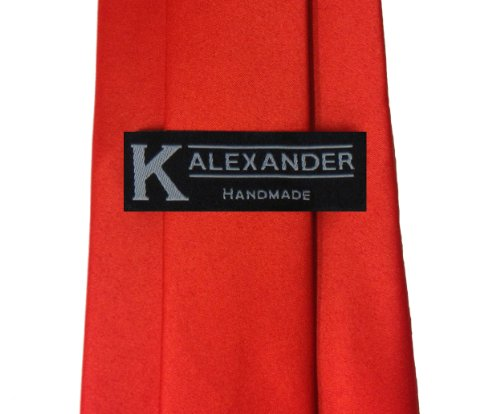 Solid red polyester tie - http://coolthings.us