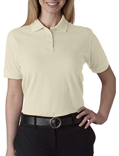 Ultra Club Ladies' Classic Pique Polo Shirt, 2XL, Stone
