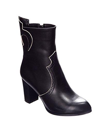 Banned Apparel Wildheart Vintage Retro 80s Boots Shoes Black SzZ4NOK