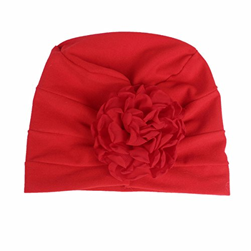 Kids Slouch - Qhome Girls Cotton Beanie Flower Slouch Cap Hospital Hat Kids Headwarp Turban Hair accessories