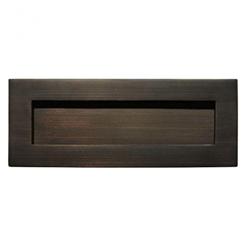 Naiture Solid Brass Mail Slot in Oil Rubbed Bronze Finish