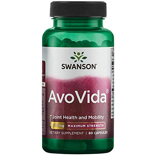 Swanson Avocado Soy AvoVida Maximum Strength ASU Supplement for Joints 300 mg 60 Capsules