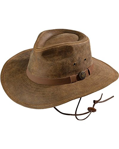 (Outback Trading Co Men's Co. Kodiak Leather Hat Brown X-Large)