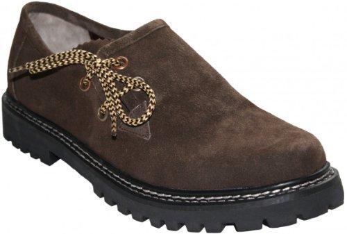 Haferlschuhe Trachtenschuhe Trachten Schuhe Echtleder wildleder Braun, Schuhgröße:43
