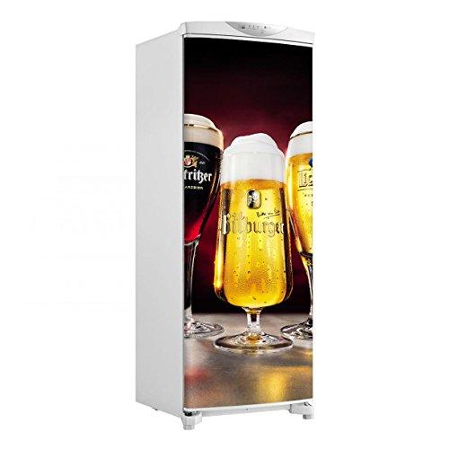 Adesivo geladeira envelopamento porta Cerveja taças - até 1,50x0,60 m