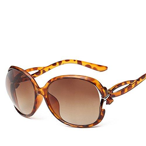Classique 1pcs Rétro Mode Dames Uv Miroir De Lunettes Demarkt Brown Grenouille Soleil brown T56dwnAxx