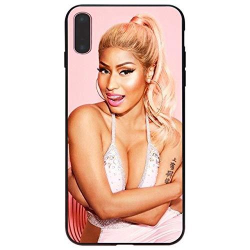 Pink Nicki Minaj iPhone 6 Plus Sized Case Bigger Screen Hip-Hop Rapper Singer Model Onika Tanya Maraj 6S Plus Cover Young Money Cash Money MC Hip Hop Rap R&B Pop Dance Music, Hard Plastic