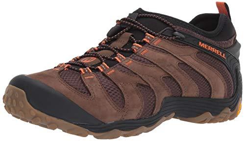 Merrell Men's Chameleon 7 Stretch Hiking Shoe, Dark Earth, 10.0 M US (Hiking Shoes Stretch)