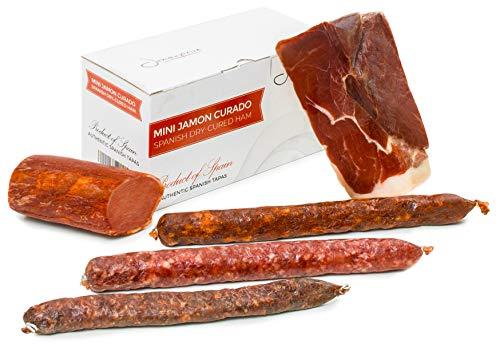 Serrano Schinken Gereift ohne Knochen 1 Kg + Lomo (Lende) Duroc Natural 250 gr + Chorizo Paprikawurst 200 gr…