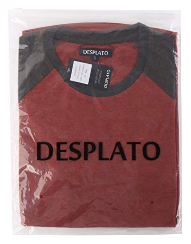 DESPLATO Mens Casual Basic Vintage Active Short Raglan Sleeve Crew Neck T Shirt