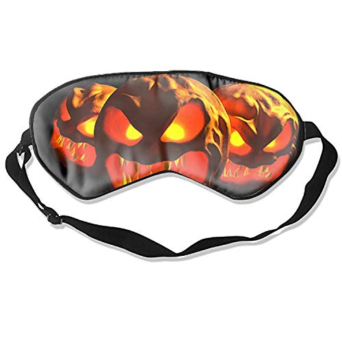 Scary Halloween Pumpkin Carving Eye Sleeping Mask,Comfortable and Soft Sleep Mask for Women Men Kids -