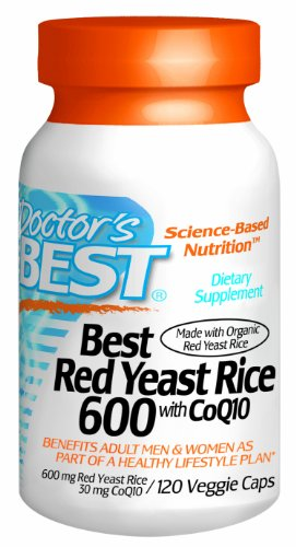 Best Best levure de riz rouge 600mg de médecin avec CoQ10, 120-Count