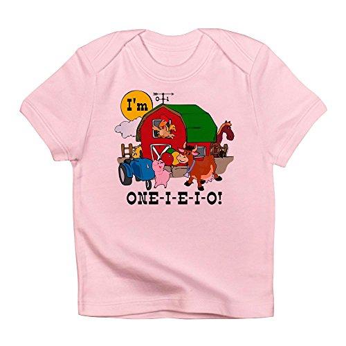 CafePress - ONE-I-E-I-O - Cute Infant T-Shirt, 100% Cotton Baby Shirt -