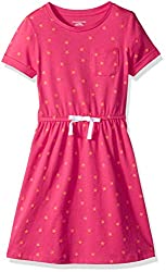Girl's Short-Sleeve Elastic Waist T-Shirt Dress