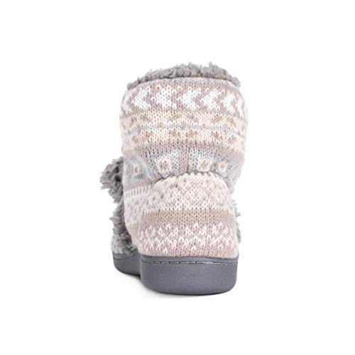 Muk Luks Women's Lulu Bootie Slippers, Blush, Large M Us