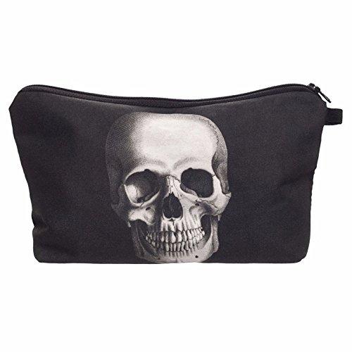 Fashion Skull Cosmetic Bag Makeup Storage Bag Toiletry Organizer Pencil Case Handbag