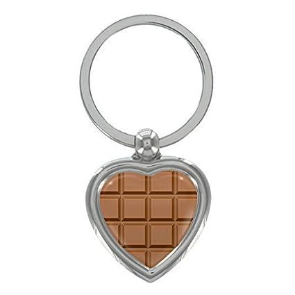 1StopShops Tableta De Chocolate Metal Forma Corazón Llavero ...