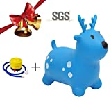 Safe Kids Inflatable Horse,PVC Boys and Girls Inflatable jumping horse Inflatable Hopping Horse with Pump,Toys,Gifts, Multiple Choices