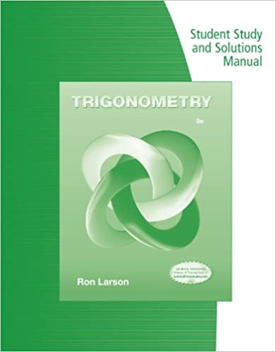 Gratis download engelsk lydbøger mp3 Student Study Guide and Solutions Manual for Larson's Trigonometry PDF RTF