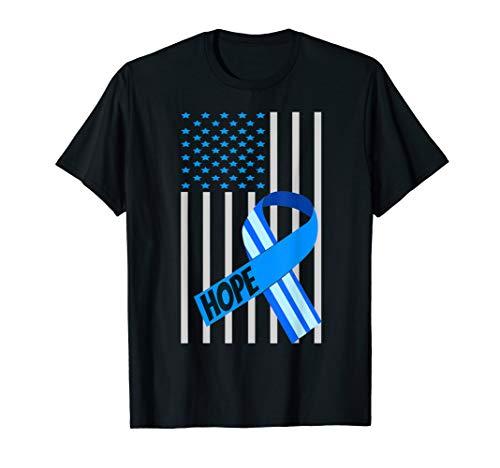USA Flag Hope ALS Awareness Month Shirt ALS Awareness Ribbon -