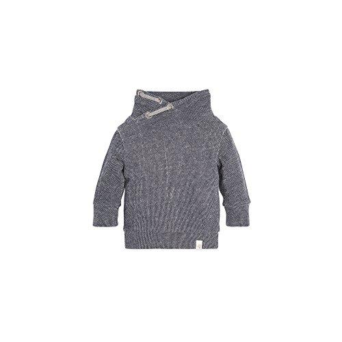 Burt's Bees Baby Baby Boys' Loose Pique Applique Sweatshirt, Midnight, 3-6 Months