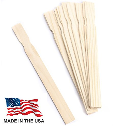 MADE IN USA Woodman Crafts Paint Stir Sticks - 14 Inch Premium Grade Wood Stirrers - Use For Wood Crafts - Paddle To Mix Epoxy Or Paint - Garden - Library (Pack of 25) (Wooden Paddle Paint)