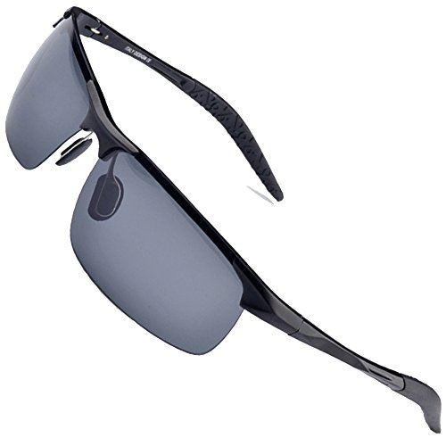 MOTELAN Men's Polarized Sunglasses for Driving Fishing Golf Metal Glasses UV400 -