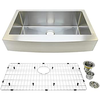 Auric Sinks 33 Quot Retrofit Farmhouse Sink Curved Front