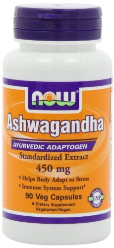 Cheap NOW Foods Ashwagandha Extract 450mg, 90 VCaps (Pack of 3)