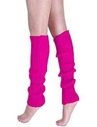 Candy Colors Womens Winter Leg Warmers Knitted Crochet Long Boot Socks Cuffs