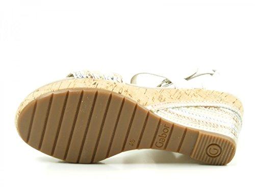 Gabor 62-820 Sandalias fashion de cuero mujer Silber