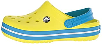 Crocs Kids' Crocband K Clog,tennis Ball Greenocean,9 M Us Toddler 7