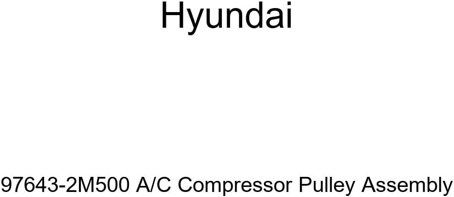 Genuine Hyundai 97643-2M500 A/C Compressor Pulley Assembly