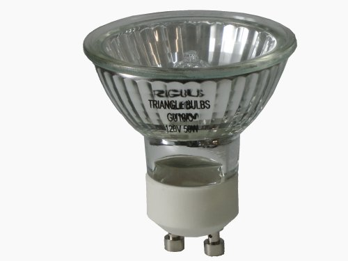 Triangle Bulbs T10293-6 (6 pack) - 50 Watt, GU10 Base, 120 Volt, MR16 With UV Glass Cover, Halogen Flood Light Bulb, Q50MR16/FL/GU10, 6 Pack by Triangle Bulbs (Image #2)