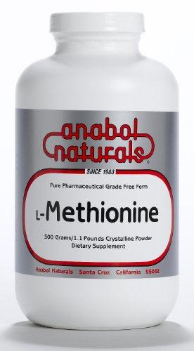 Anabol Naturals L-Méthionine 500 grammes Free Form de poudre cristalline pure