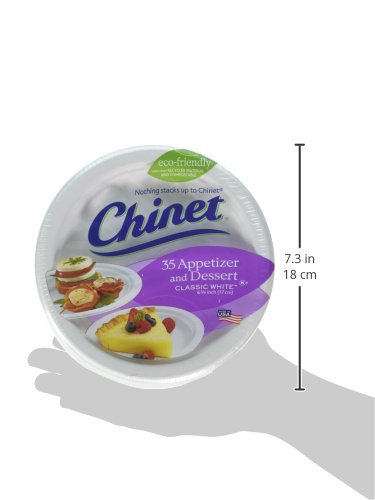 Chinet Classic White Fiber Dessert & Appetizer Plates, 420 Count by Chinet (Image #6)