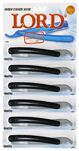 LORD Straight Razor Barber Single Edge Disposable 6 pcs. L04PS