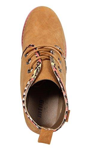 Stiefel für Damen MTNG 52954 MAKO CAMEL-INDI
