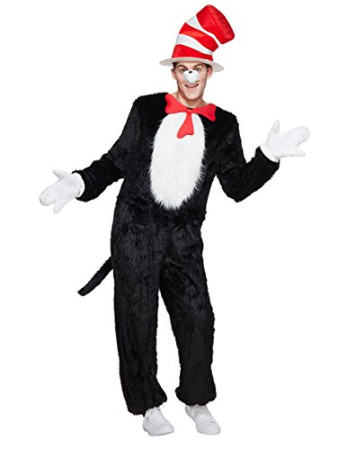 Cat In The Hat Halloween Costume (Spirit Halloween Adult Cat in the Hat Costume - Dr. Seuss)