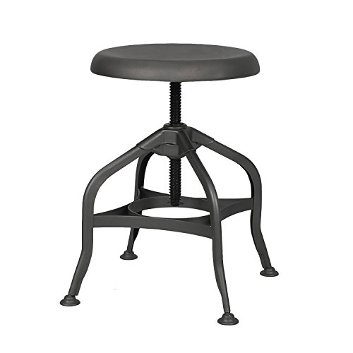 Retro Cafe Metal Bar Stool Bronze