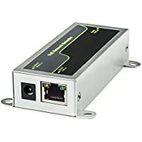 Cabos Industrial PoE / Network Extender with Data Rate 10/100Mbps Port RJ-45 Supply Power for Home Security Systems IP Camera (Excludes Power Adapter)
