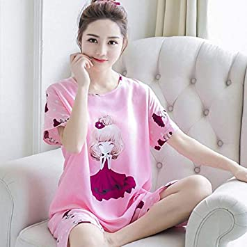 679d26597f01 Image Unavailable. Womens Milk Silk Pajamas Set Pajama Pyjamas Set Sleepwear  Cute Summer Lightwear Purple M