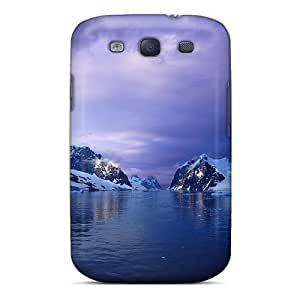 Snap-on Case Designed For Galaxy S3- Purple Lemaire Channel Antarctica