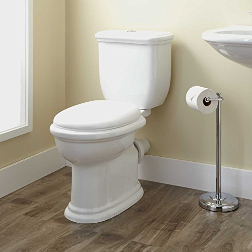 Naiture Dual-Flush European Rear Outlet Toilet Two-Piece-Elongated in White Finish