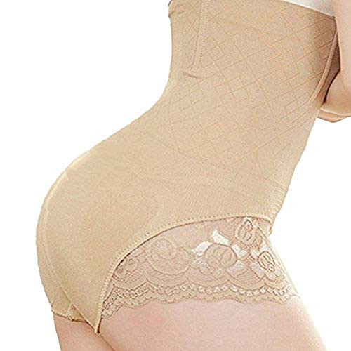 Price comparison product image jxts - top High Waist Shapewear Tummy Slimmer Butt Lifter Panty Waist Cincher for Women Girdle Women Bodyshaper (Nude, XL/2XL)