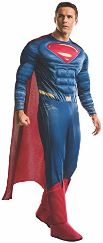 [Rubie's Men's Batman v Superman: Dawn of Justice Deluxe Superman Costume, Multi, X-Large] (Halloween Costumes For The Family)