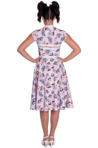 Rosa Line rosa 4319 DRESS made Hell Bunny dell'abito 0qfxPB