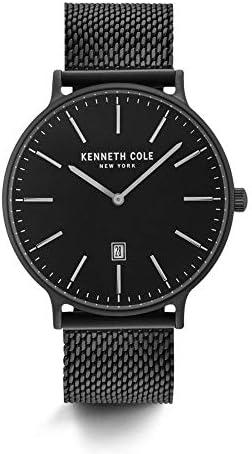 Kenneth Cole New York Male Analog quartz Stainless steel Black Silver Mesh Stainless Steel Bracelet Watch Model KC15057009 12