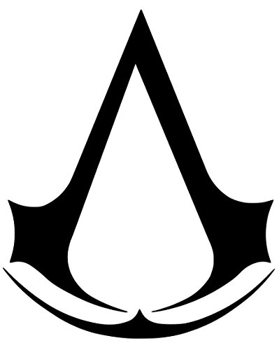 Assassin's Creed Sticker Decal Vinyl (2''x1.5'', Black)